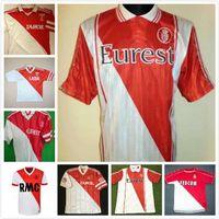 1977/1982 94 95 96 97 Versione retrò Monaco Tuybens Soccer Jersey 90 91 92 1999-2000 Home Dalger Vintage 96-97 As Ben Yedder Jovetic Golavin FloCage Jorge Camicia da calcio