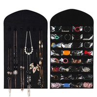 32 Earrings Hook Jewelry Organizer Hanging Makeup Pockets Pouch Storage Bag Organizer Jewelry Display Fabric 18 Holder Guitw