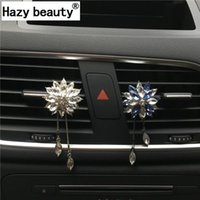 Automobile Deodorante Deodorante Hazy Beauty Strass Crystal Flower Pendant Pendente Condizionatore Condizionatore Decorazione Automobile Styling