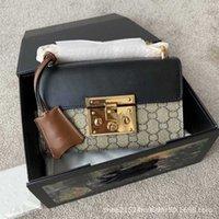 Luxurys 디자이너 핸드백 여성 20ss 새로운 소 가죽 오래 된 꽃 Padloc 체인 잠금 패키지 달 빛 보물 상자 슬래 맨 패키지 Yyds