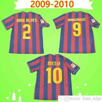 # 10 Messi # 9 Ibrahimovic 2009 2010 Retro Fußball Jersey Pedro Home Classic Vintage Football Hemd Top Uniform Henry Camiseta de Futbol 09 10 A.Imasta