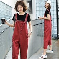 Summer Plus Size Overalls For Women Sleeveless Loose Long Playsuit Party Rompers Jumpsuit Harem Trousers Macacao Feminino Women's Pants & Ca