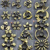 Spinner Ottone Brass Fidget Color Zinco in lega di metallo Dai dadi Bauhinia Timbiere Esterno Liscio Finger TRI TRI Spiner Gyro Giocattolo per Kid 68dx