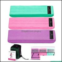 Equipments Supplies Sports & Outdoors3Pcs Set Ladies Fabric Resistance Bands Hip Glute Exercise Expander Elastic Fitness Yoga Training Strap