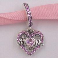 """AnnaJewel 925 Sterling Silver Beads Pandora People Heart & Mom Dangle Charm Charms Fits European Pandora Style Jewelry Bracelets & Necklace 799402C01"""