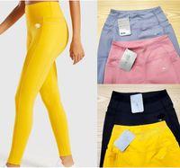 New Womens Designer Yoga Leggings Vestito Pantaloni lunghi Pantaloni sportivi TrackSuits Fitness T Shirt Top Sport Vestiti Gymshark Stampa Lettera Set Outfits