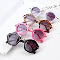 النظارات الشمسية 2021 مضلع Poison المعادن الأطفال شخصية أزياء النظارات الشمسية للأطفال KS037