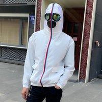 Vestes Outwear Hommes Couverture Visage Visage Couverture de protection Couverture Casual Casual Lightweight Couleur Contraste Couleur Hommes