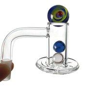 10mm 14mm masculino conjunto de vidro bong fumar acessórios od 20mm boné de giro de mármore ruby pérolas pérolas de plenda spin quartzo banger