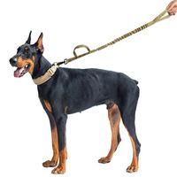 Army Tactical Dog Leash Nylon Bungee Leashes Pet Militar Líder Cinto Treinamento Running Coleira Para Cães Médios Grandes 1190 V2