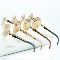 Sonnenbrille Runde Männer Luxus Marke Designer Carter Sun Gläser Treiben Schatten Eyewear Herren Holz Weiß Rot Bla Holz Glas