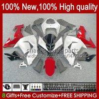 Fairings per Kawasaki Ninja ZX-10R ZX1000 ZX 10R 10 R 1000 CC 2006-2007 Bodywork 14No.30 ZX1000C ZX10R 06 07 ZX1000CC 1000CC 2006 2007 Bodys Kit rosso argentato