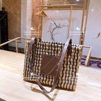 Designer Classic Shopping Bags Borsa a tracolla singola tessuta a mano Signore Grande volume Verdure Basket Casual Style Tote