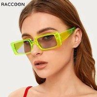 Black Squre Gafas de sol Mujeres Y2K Steampunk 90's Gafas de sol Lujo Vintage Holiday Beach Eyeeglasses Gafas de Sol