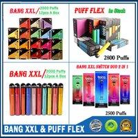 Bang XXL Tek Kullanımlık Cihaz 800 mAh Power Pil Önceden Dolgulu 6 ML Pod 2000 Puffs XXTRA Kitleri Vape Boş Kalem VS Bar Akış Xtra Plus XL Hava Çubuğu Lux Anahtarı Duo 2 1