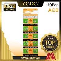 YCDC 10PCS AG0 LR69 LR521 379 زر بطاريات خلية عملة عملة SR521WS D379 البطارية القلوية 1.55 فولت V379 SR63 لمشاهدة اللعب النائية