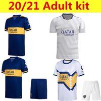 Camiseta do Boca Juniors Camisas de futebol 2021 2022 Cristian Pavon Tevez Carlitos Maradona Jersey de Rossi Almendra Salvio Abila Uniforms Cabj Kids Kit 21/22