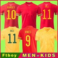 ويلز لكرة القدم جيرسي بعيدا 20 21 جيمس 2020 ويلز المنزل بيل كرة القدم قميص رمزي موحدة 2021 الرجال الاطفال الفوارج ألين b.Davies