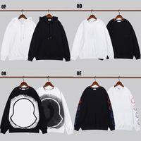 남성용 순수 면화 고품질 올바른 에디션 남성과 여성 후드 브랜드 럭셔리 디자이너 까마귀 스포츠웨어 스웨터 느슨한 패션 레저 자켓 크기 M-XXL SS