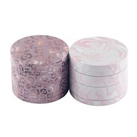 40mm Dry Herb Grinder Metal Tobacco Crusher Smoking Accessories Cigarette Leaves Pink Leopard Hand Muller 4 Layers Zinc Alloy with Pollen Filter Mini Shovel