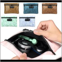 Outdoor Bags Smoking Smell Bag Pu Tobacco Pouch With Combination Lock For Herb Odor Proof Stash Container Case Storage Drop Zpsfs P6R7D