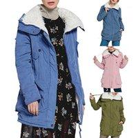 Vêtements de coton long de laamei Winter pour femmes épaissies Coton de couleur pure couleur pure Cotton en gros1