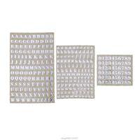 참신 항목 5pcs 3mm 알파벳 문자 Chunky 반짝이 에폭시 수지 장식 스티커 Engkish Numbers UV 필링 Mar02