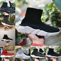 Atacado 2021 Novo Treinador de Velocidade Preto Luxo Vermelho Alto Casual Sock Shoes Homens Mulheres Barato Moda Paris Designer Sneakers Alta Qualidade S66