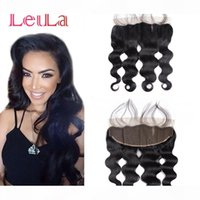 Peruvian Virgin Hair Lace Frontal Closure Queen Hair Product 7A Body Wave 13x4 With Baby Hair Human Closure Lace Frontal