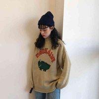 Sweater Winter Femmes Femmes Vintage Lettre drôle Mentions légales Le cavalier long-cavalier imprimé en vrac ou oversize au crochet