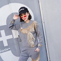Two Piece Dress Autumn Winter Knitted Women Tracksuit 2 Pieces Set Pearls Phoenix Sweater Knit Pants Gray Casual