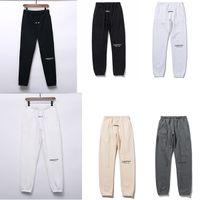Pantalones de invierno de otoño reflectante EE.UU. Miedo a Dios Essentials Letras de silicona Pantalones de impresión Casual FOG Sweetpants Hombres Mujeres FG JOGGER PANTE 3M