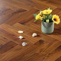 Solid wood high grade herringbone parquet floor black walnut wood's morrow Castle family bedroom living room wear resistant pure solids woods floors