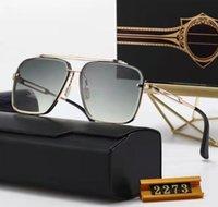 Dita Square Mach One vast Oversized Men Sunglasses Women Brand Designer Flat Top Mirror Sun Glasses Squar Gold Male Female Eyewear 227