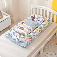 50x90cm New Soft Nest For Boys Girls Portable Travel Infant Cotton Cradle Crib Newborn Movable Baby Bed