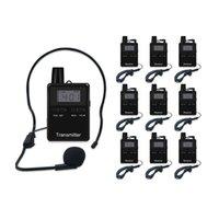 VHFプロフェッショナルワイヤレスオーディオガイドツアーシステム10スロットケースツーリズム屋外マイクロフォンのための1Tと9Rを含む