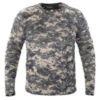 Männer Langarm T-Shirt Taktische Tarnung T-shirts Neue Spring Schnell trocken Atmungsaktiv Militär Armee Tops Markenkleidung T-Shirt 210415