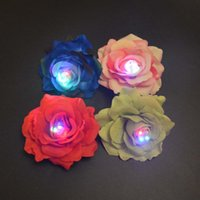 Glow Flashing Hair Clips Light Corsage Brooch Rose Flower Headwear Decor Campfire Hairpin Bridal Wedding Birthday Party Decoration