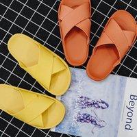 Mujeres pareja verano zapatillas para interiores hogar suave suave suela suave sólido baño sin deslizamiento Ducha diapositivas calzado zapatos damas hombres n5go #