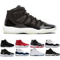 Chaussure pour hommes 11s Cap et robe de basket Basketball chaussures Sneaker Velvet Heiress Space Bred Gym Gym Red Blé Bred Hommes Sports Casual S