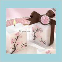 Autres Fournitures de fête d'événement Festive Home Jardin 100pcs Bougies de mariage Smoke - Cire parfumée Cirry Cerisier Bougie Présente Cadeaux Faveurs
