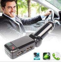 BC06 BT 블루투스 다기능 자동차 충전기 MP3 MP4 플레이어 미니 듀얼 포트 AUX FM 송신기 어댑터 오디오 플레이어 핸즈프리 자동차 키트