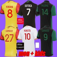2021 RC Линза Футбол Джетки Maillot de Foot Fofana Ganago Kakuta Special 4 21 21 Домашний домой Выезд Третья Четвертая Мужская футбольная футболка