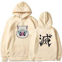 Japanses Anime Demon Slayer Tanjiro Nezuko Zenitsu Inosuke Costume Hoodies Harajuku Pullover Fleece Sweatshirt Sudadera