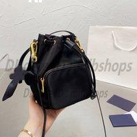 Luxurys Designers Shoulder CrossBody Cassette bags P High Quality Fashion Handbags women nylon Waterproof bucket bag Handbag Lady wallets 2021 Clutch Totes