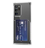 Titulaire de la fente de carte Tranparent Clear TPU Soft TPU Coffre-Téléphone pour Samsung S21 S20 S10 Note20 Note10 Plus Ultra A72 A52 A42 A32 A12 A12 A51 A71 5G Huawei P30 PRO LG Velvet Q52