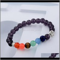 Beaded, Strands Jewelrybeaded For Women Girl Aessories 7 Chakra Natural Stone Elephant Beads Yoga Bangles And Bracelets Woman Jewelry Gifts D