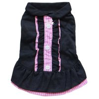 Maid Outfit Dog Clothes Dress Button Pet Clothing Vest Fashion Cotton Dogs Outfits Cute Spring Summer Pink Girl Ropa Para Perro Apparel