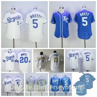 1983 1985 Retrour Baseball Vintage 13 Mike Aviles Jersey 5 George Brett 20 Frank Branco Branco Branco Branco Cinza Tudo Costurado Retire Team Cooperstown