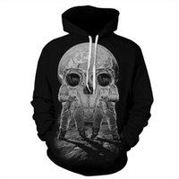 Women's Hoodies & Sweatshirts Harajuku Black Sweatshirt 3D Print Astronaut Skull Usa Apparel Hoodie 2021 Autumn Women Jogger Sportswear S-XL